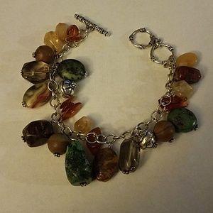 Silpada cha cha stone bead bracelet